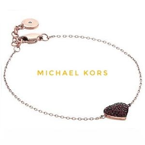 New Michael Kors Rose Gold Pave Heart Bracelet